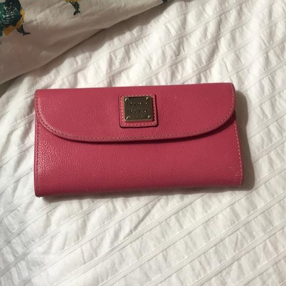 Preloved Dooney and Bourke Pink wallet!